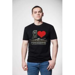 """Футболка мужская """"i love WoT"""""""